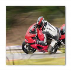 Kırmızı Motosiklet Bandana Fular