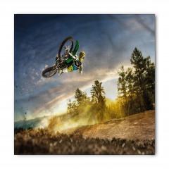 Motosikletle Uçan Adam Bandana Fular