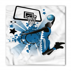 Mavi Basketbol Oyuncusu Bandana Fular