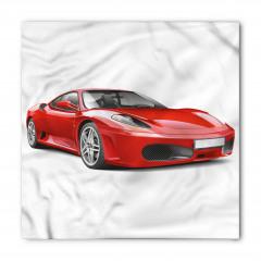 Kırmızı Spor Otomobil Bandana Fular