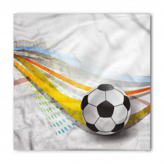 Futbol Topu Desenli Bandana Fular