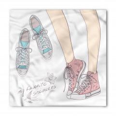 Pembe Mavi Ayakkabılar Bandana Fular