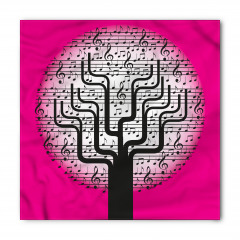 Müzik Ağacı Desenli Bandana Fular