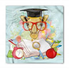 Kırmızı Gözlüklü Zürafa Bandana Fular