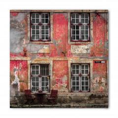 Kırmızı Ev Desenli Bandana Fular