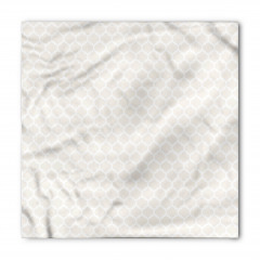 Gri Beyaz Dekoratif Bandana Fular