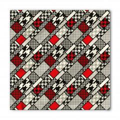 Kırmızı Siyah Çizgili Bandana Fular