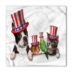 ABD Şapkalı Hayvanlar Bandana Fular