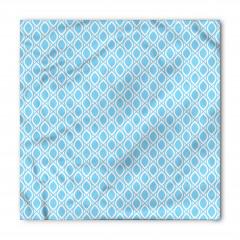 Mavi Beyaz Damlalar Bandana Fular