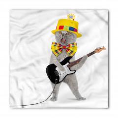 Şapkalı Papyonlu Kedi Bandana Fular