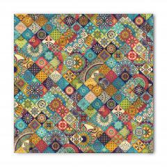 Çiçekli Geometrik Bandana Fular