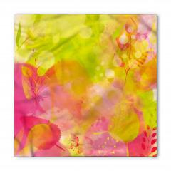 Pembe Yeşil Yapraklar Bandana Fular
