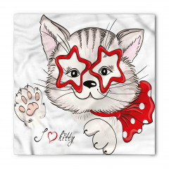 Yıldız Gözlü Kedi Bandana Fular