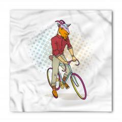 Mor Bisikletli Keçi Bandana Fular
