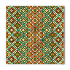 Kahverengi Yeşil Desen Bandana Fular