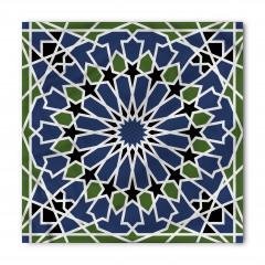 Mavi Yeşil Çiçekli Bandana Fular