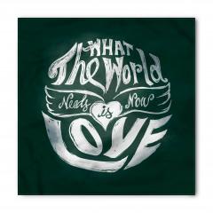 Aşk Sözleri Desenli Bandana Fular