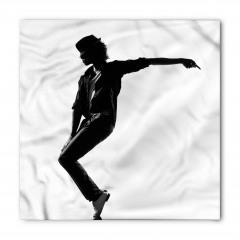 Siyah Şapkalı Dansçı Bandana Fular