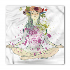 Yogacı Çiçekli Kız Bandana Fular