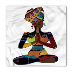 Afrikalı Yogacı Kadın Bandana Fular