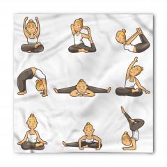 Yogacı Sarışın Kız Bandana Fular