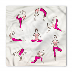 Mor Taytlı Yogacı Bandana Fular