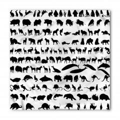 Siyah Beyaz Hayvanlar Bandana Fular