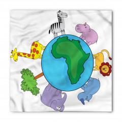 Dünya Hayvanları Bandana Fular