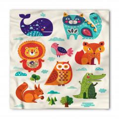 Şirin Hayvanlar Desenli Bandana Fular