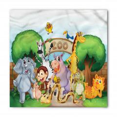Hayvanat Bahçesi Deseni Bandana Fular