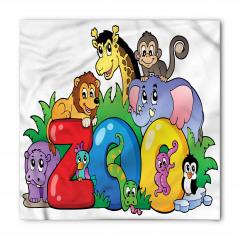 Rengarenk Hayvanlar Bandana Fular