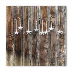Beyaz Yıldızlar Desenli Bandana Fular