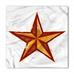 Sarı ve Kırmızı Yıldız Bandana Fular