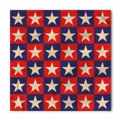 Kırmızı Mavi Yıldızlar Bandana Fular
