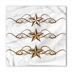 Kahverengi Şık Yıldızlı Bandana Fular