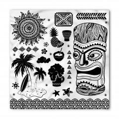 Siyah Beyaz Tiki Bandana Fular