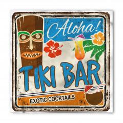 Tiki Bar Desenli Bandana Fular