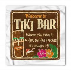 Kahverengi Tiki Bar Bandana Fular