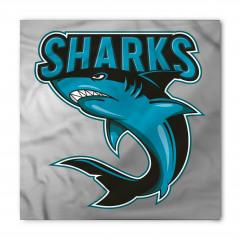 Mavi Köpek Balığı Bandana Fular