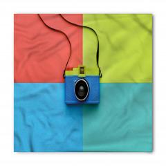Mavi Fotoğraf Makinesi Bandana Fular