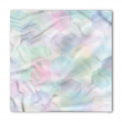 Mor Mavi Geometrik Bandana Fular