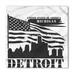 Michigan Detroit Desenli Bandana Fular