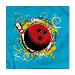 Kırmızı Bovling Topu Bandana Fular