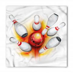 Kırmızı Top Beyaz Labut Bandana Fular
