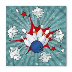 Mavi Beyaz Bovling Bandana Fular