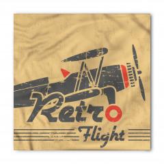 Retro Uçak Desenli Bandana Fular