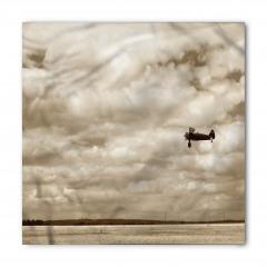 Gri Gökyüzü ve Uçak Bandana Fular