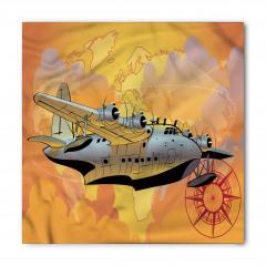 Gri Uçak Desenli Bandana Fular
