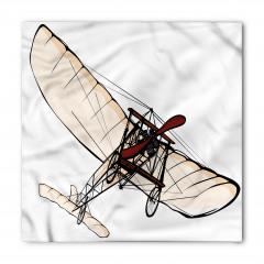 Kırmızı Pervaneli Uçak Bandana Fular