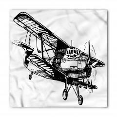 Siyah Beyaz Uçak Bandana Fular